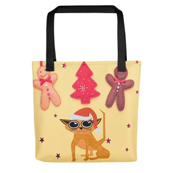 Fun Christmas Tabby Tote Bag